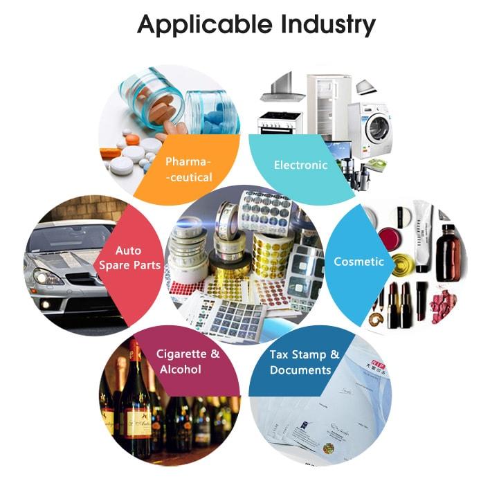Hologram Sticker Industry Application