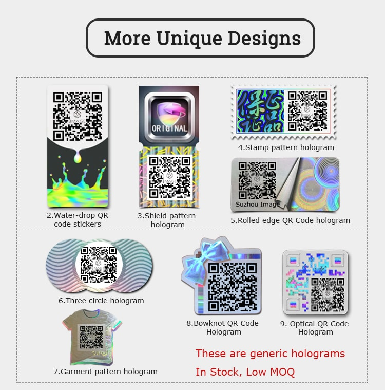 eight qr code hologram designs