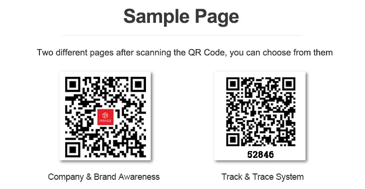 qr code sticker for security authentication and tracking