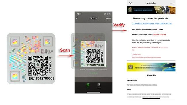Hologram-qr-code-label-for-authentication