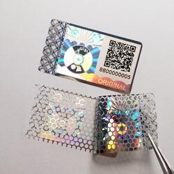 Honeycomb-Anti Tamper Sticker