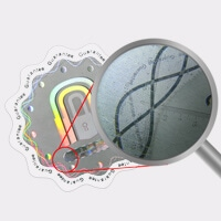 Optical-line,-composed-of-micro-text