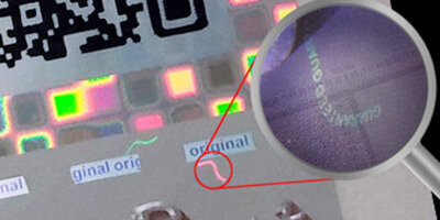 hologram-label-with-information-fiber