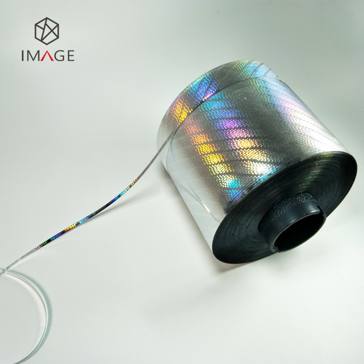 3mm self adhesive tear tape with hologram image