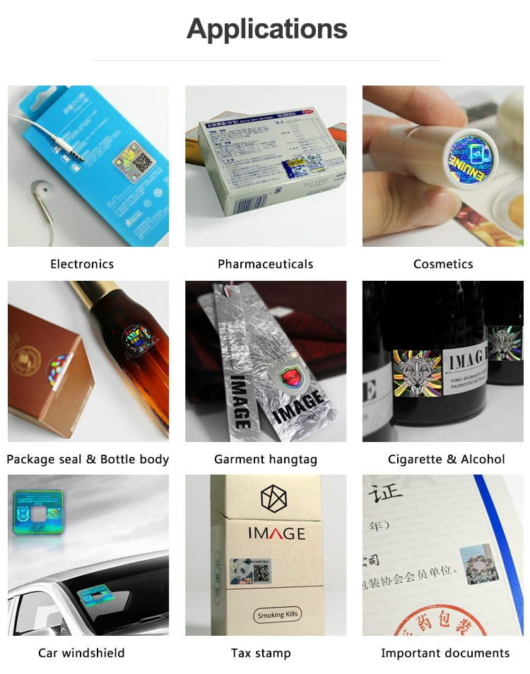 Hologram Stickers for pharmaceuticals, cosmetic & personal care and electronics