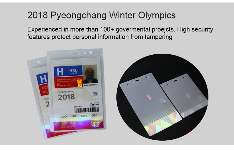 holographic laminating pouches for 2018 Pyeongchang Olympic Games