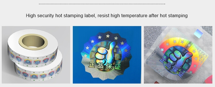 hot stamping security holograms for documents & certificates