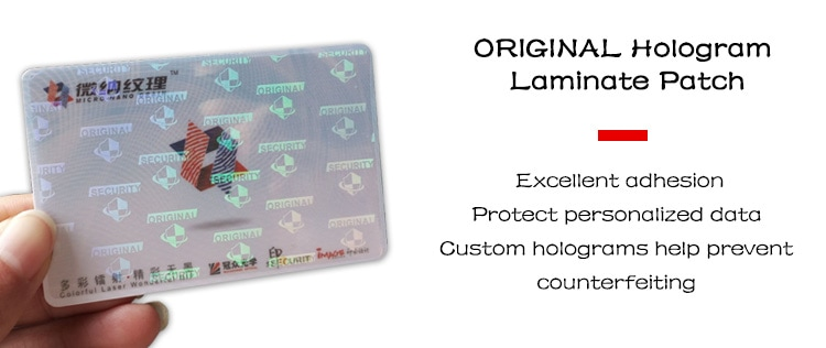 optical holographic laminate patch for standard cr80 card (2)