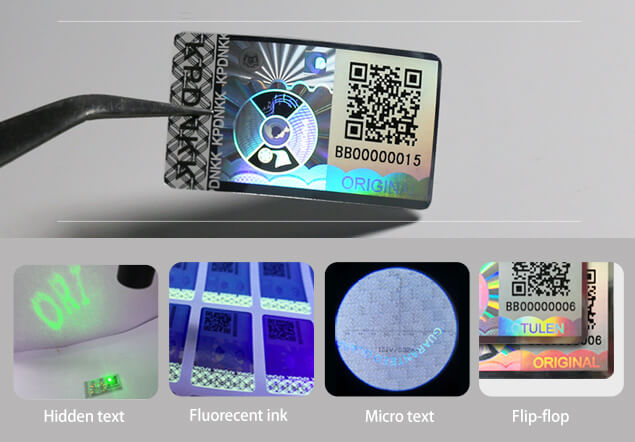 covert features hologram label