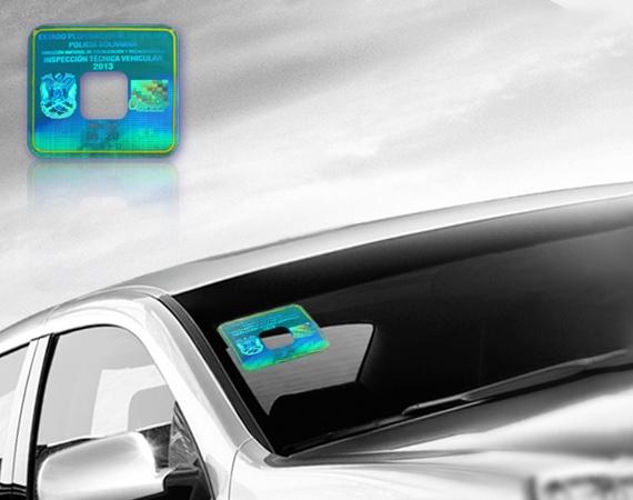 hologram sticker for car windshield