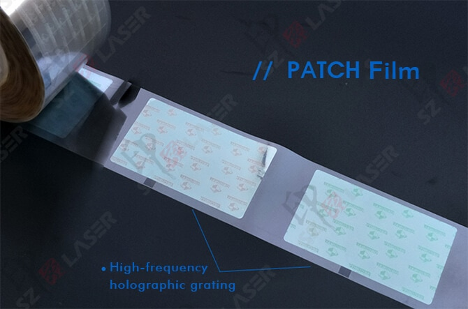 holographic grating patch film