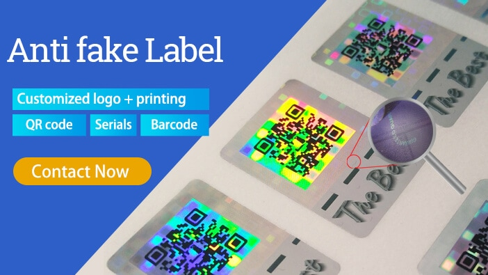 holographic labels for security authentication