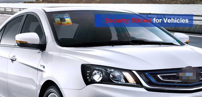 holographic sticker for car window of the vehicle