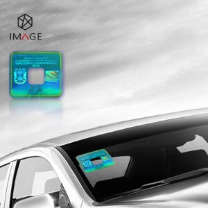 holographic windshield sticker for car's front window