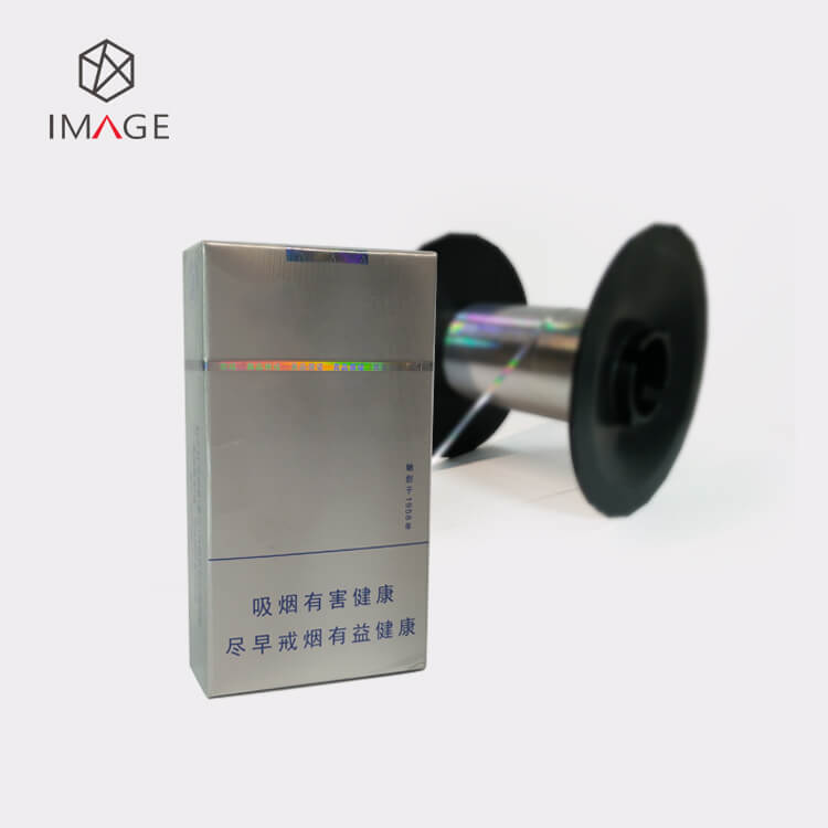 Optical Security Tear Tape for cigarette box
