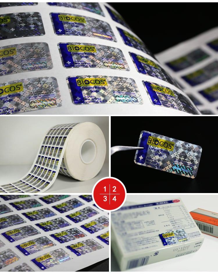 Pharmaceutical Hologram Sticker Design