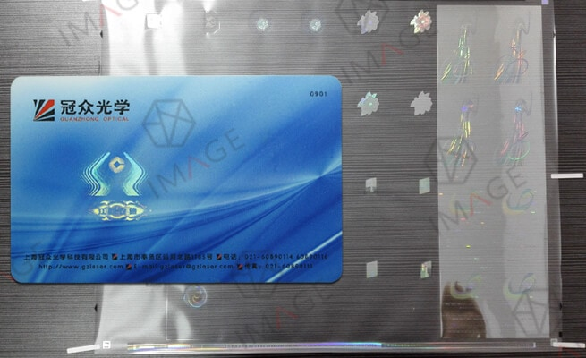 embed holographic overlay into PVC ID Cards
