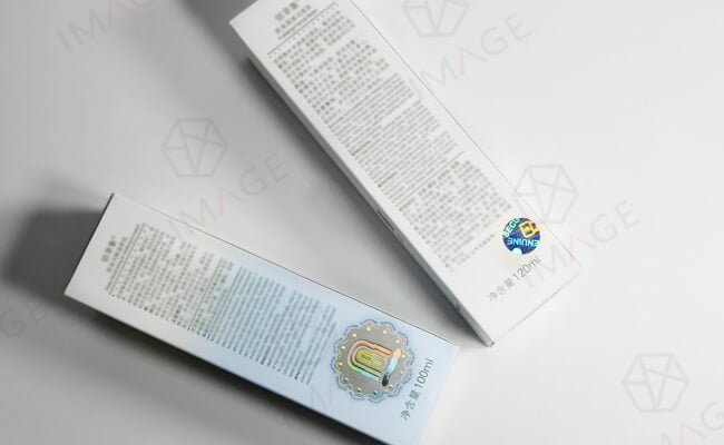 hologram safety label for brand package