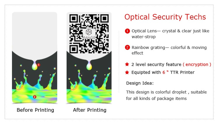qr code printable hologram sticker for product authentication