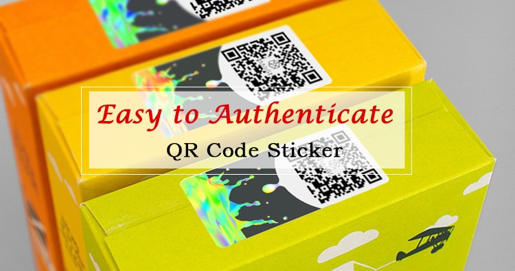 qr code printed authenticity hologram sticker
