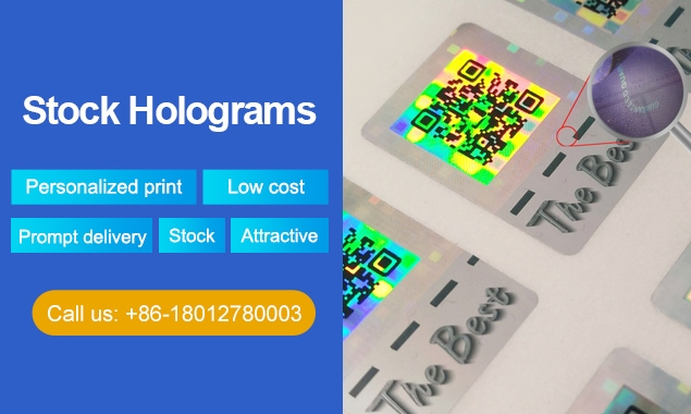 stock hologram sticker solution