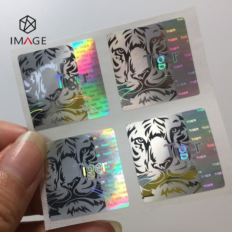 25mm holographic die cut sticker