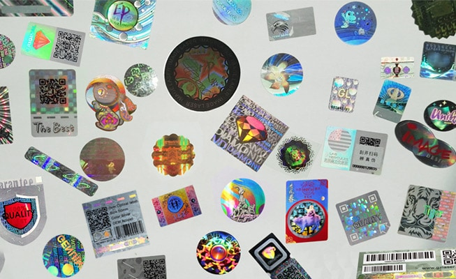 Fully Custom Hologram Stickers with Various Designs, Shapes and Colors