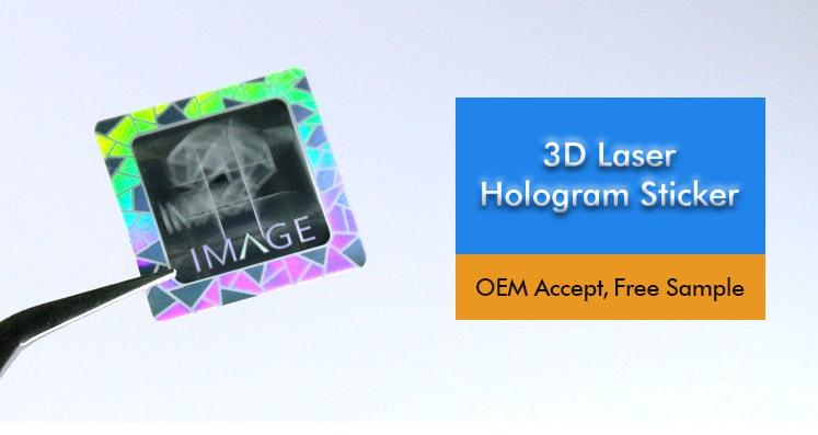 Square 3D Laser Hologram Sticker