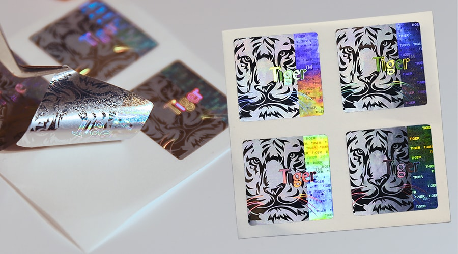 Square Die Cut Holographic Sticker