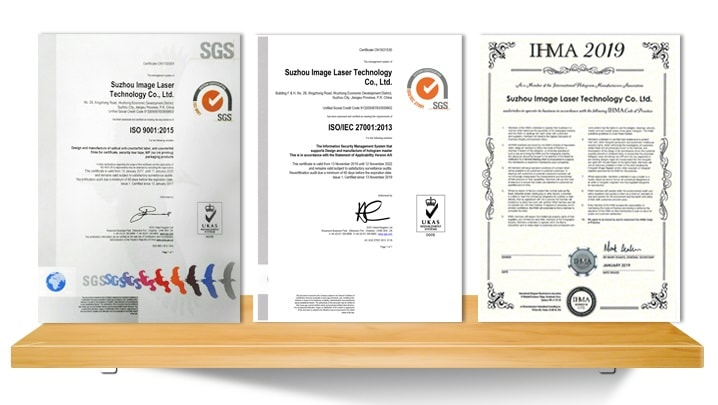 qualification certificate(IHMA and SGS)