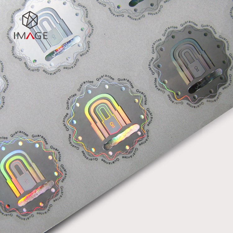 round custom security hologram sticker