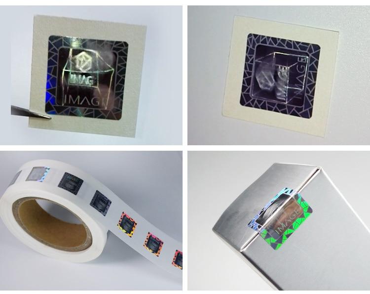 square laser hologram sticker for package seal