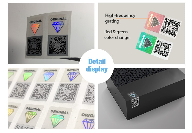 18X36mm 3d hologram security qr code label for package box