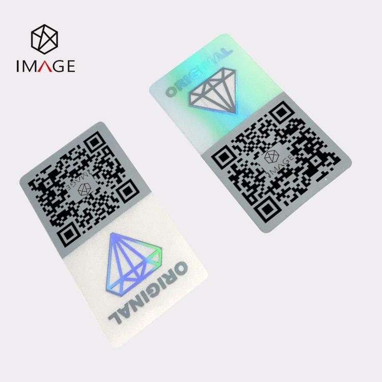 18X36mm 3d hologram security qr code label