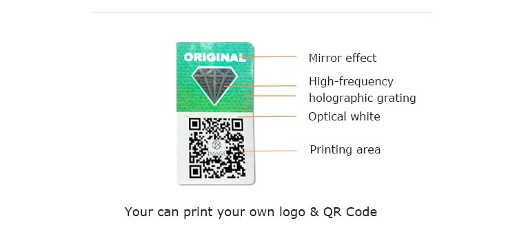 security qr code label with original word