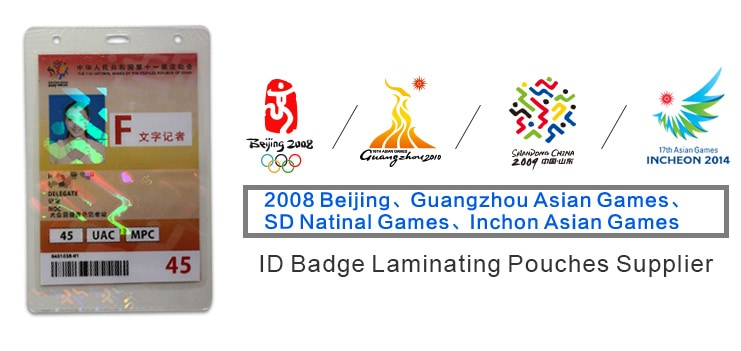 Sparkle Hologram Laminating Pouches for Sports Event ID Badge