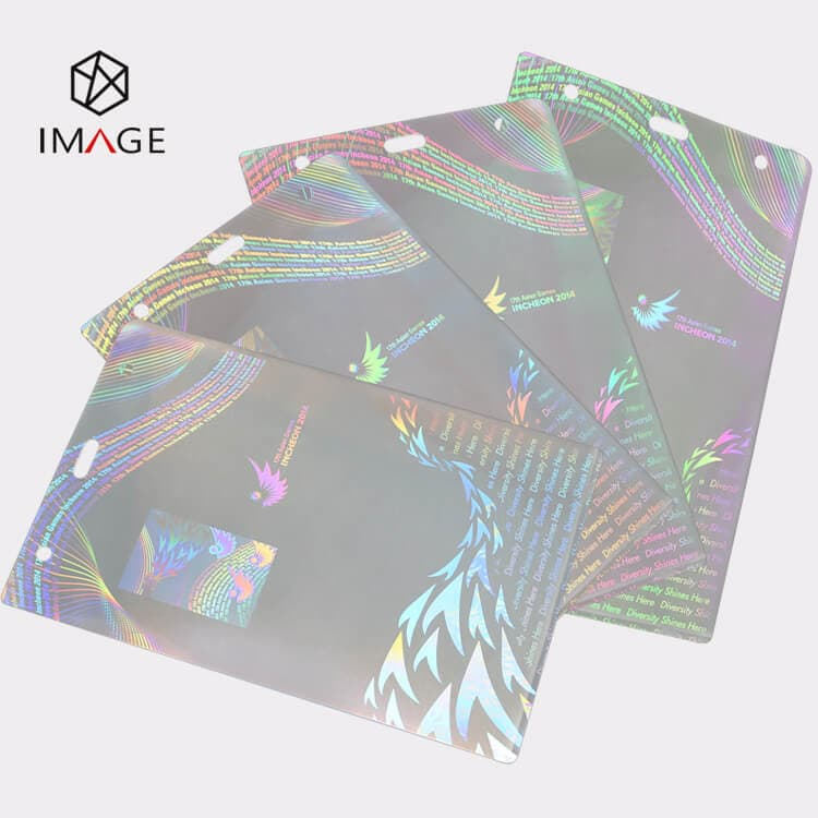 Transparent Hologram Laminated ID Badge Pouches