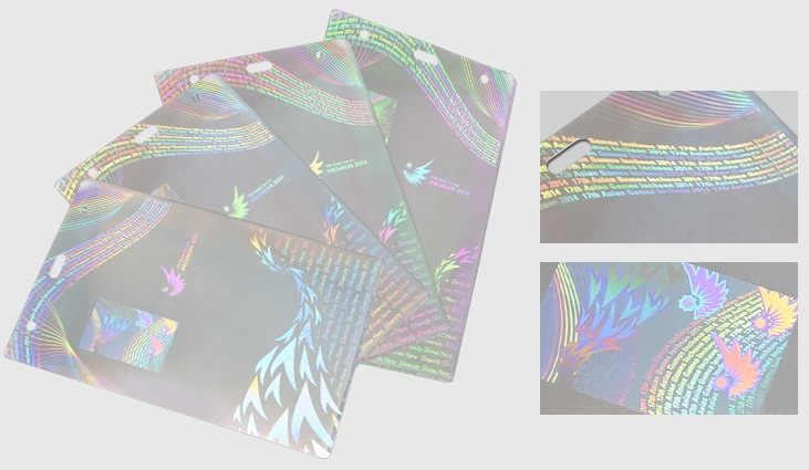eye-catching hologram laminated pouches for ID Badge