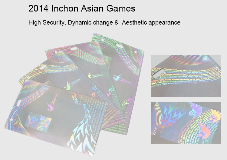 hologram pouches for 2014 inchone asian olympic games