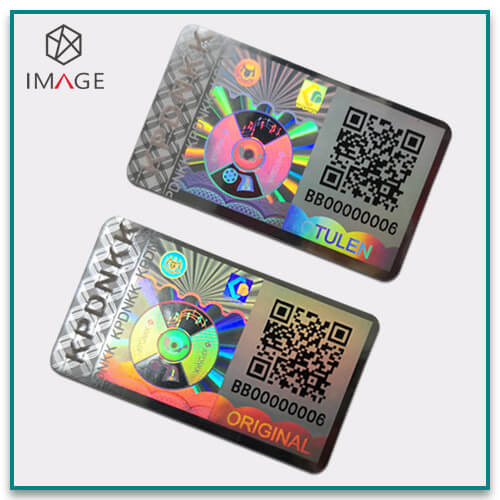 Beautiful QR Code Hologram Stickers with Serials