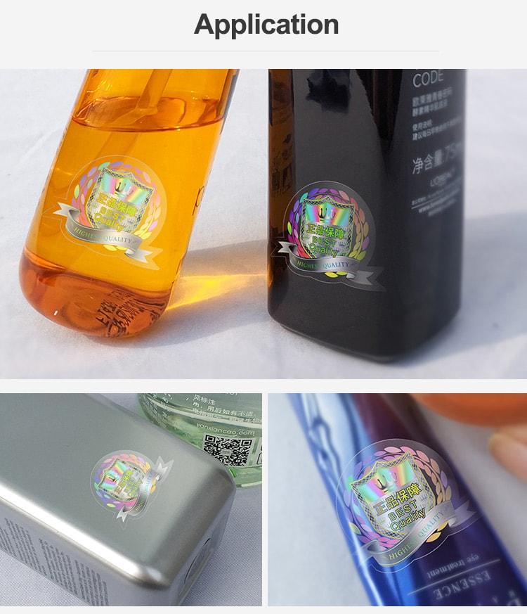 Clear hologram sticker aplication