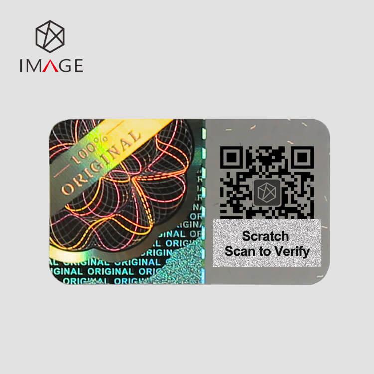 100% Original Scratch QR Hologram Sticker, Scan QR to Verify