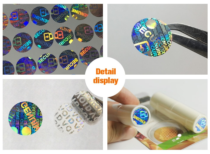 15mm round lens hologram sticker for lip gloss prodcuts