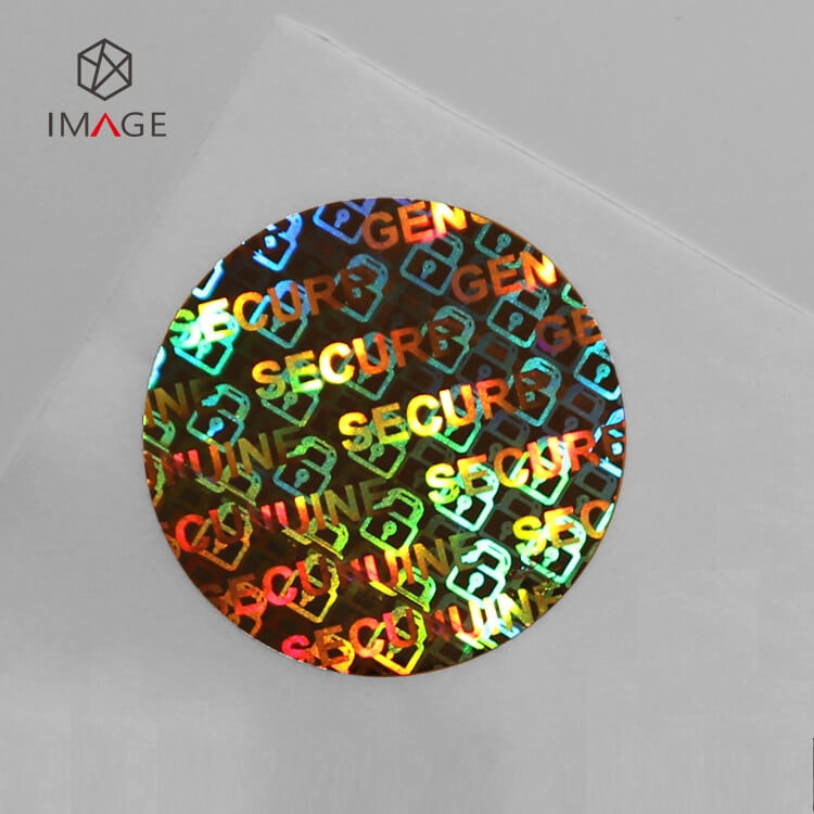 30mm circle shape genuine secure holographic sticker