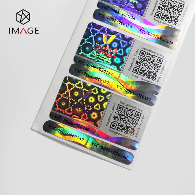 Dynamic Change Serial Number QR Code Hologram Sticker
