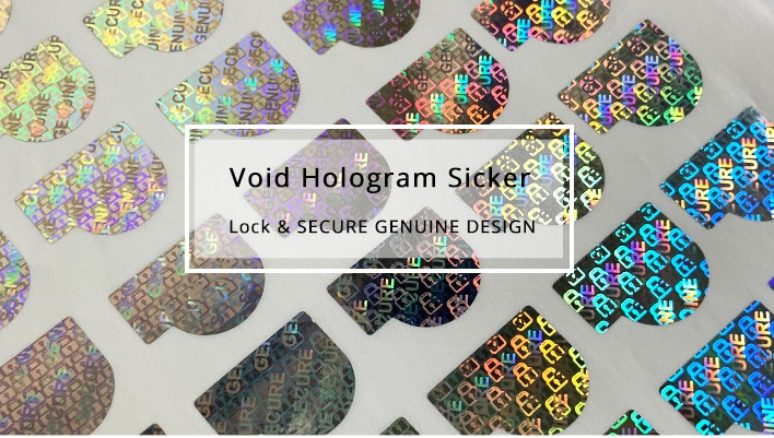 Letter P Hologram Sticker with SECURE GENUINE, Lock Design in the Background