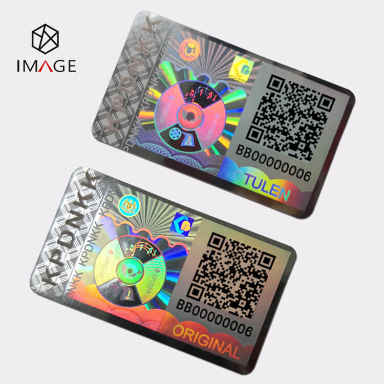 QR Code Hologram Sticker, Flip flop for TULEN and ORIGINAL