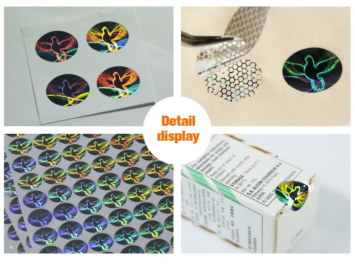 oval shape dove pattern tamper proof labels for boxes seal