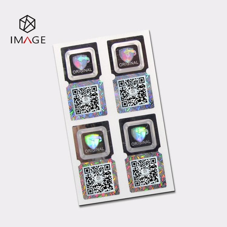 15X30mm 3d hologram qr code sticker