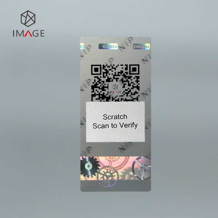 3D hologram security label with scratch code